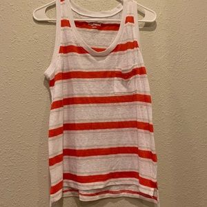 Old Navy orange and white striped tank
